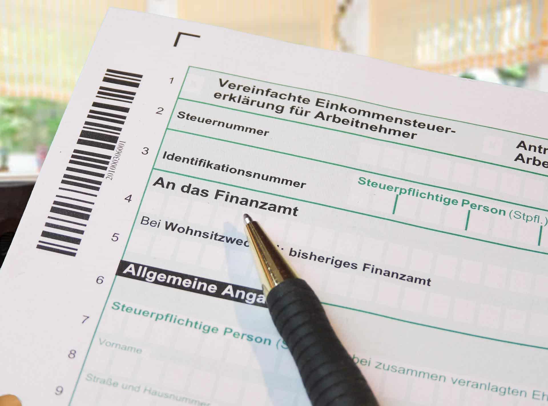 Steuererklärung Ellen Deranek